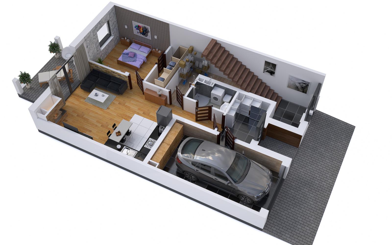 rzuty mieszkań wizualizacje wnętrz lubin