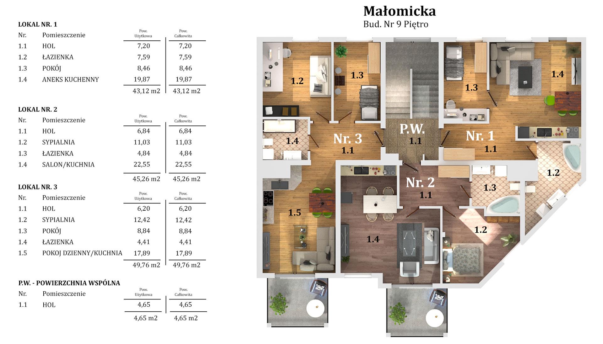 Blok Lubin Małomicka piętro